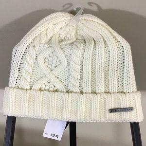 Sean John Cable Knit Beanie Cap Ivory